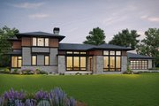 Contemporary Style House Plan - 4 Beds 4 Baths 3882 Sq/Ft Plan #48-1004 Exterior - Other Elevation