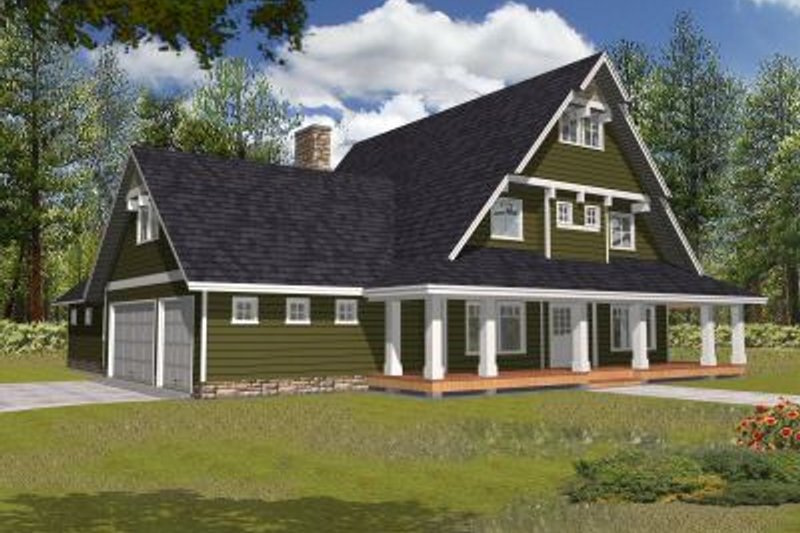 Country Exterior - Front Elevation Plan #117-536 - Houseplans.com
