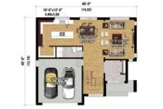 Contemporary Style House Plan - 3 Beds 2 Baths 2329 Sq/Ft Plan #25-4280 Floor Plan - Main Floor