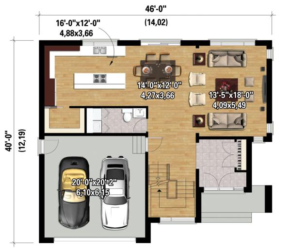 Dream House Plan - Contemporary Floor Plan - Main Floor Plan #25-4280