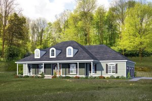 Country Exterior - Front Elevation Plan #932-21