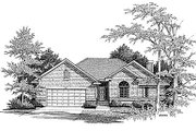 Traditional Style House Plan - 3 Beds 2.5 Baths 1739 Sq/Ft Plan #70-184 Exterior - Front Elevation