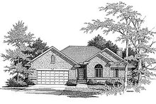 Dream House Plan - Traditional Exterior - Front Elevation Plan #70-184