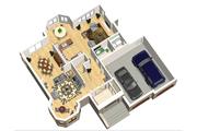 European Style House Plan - 3 Beds 2 Baths 2531 Sq/Ft Plan #25-4693 Floor Plan - Main Floor Plan