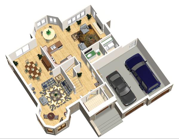 European Floor Plan - Main Floor Plan Plan #25-4693