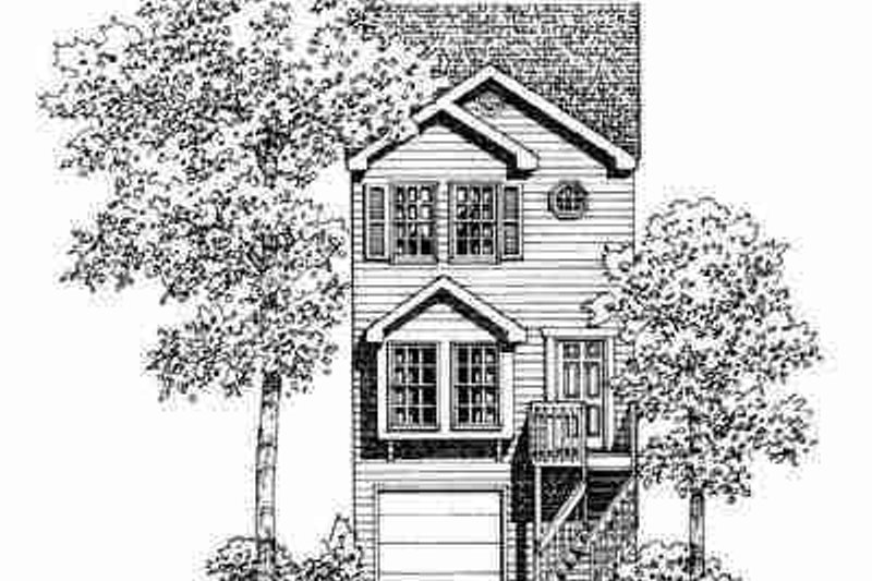 Traditional Exterior - Front Elevation Plan #72-337 - Houseplans.com