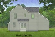 Traditional Style House Plan - 3 Beds 1.5 Baths 1274 Sq/Ft Plan #1010-219 Exterior - Rear Elevation