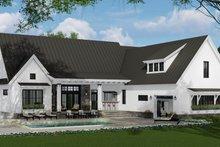 Farmhouse Exterior - Rear Elevation Plan #51-1137