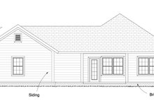 Cottage Exterior - Rear Elevation Plan #513-2083