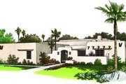 Adobe / Southwestern Style House Plan - 3 Beds 2.5 Baths 1907 Sq/Ft Plan #72-119 Exterior - Front Elevation