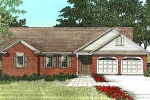 Traditional Exterior - Front Elevation Plan #56-110