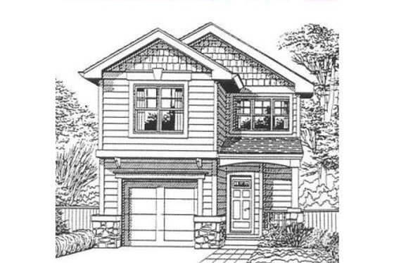 Craftsman Exterior - Front Elevation Plan #53-120