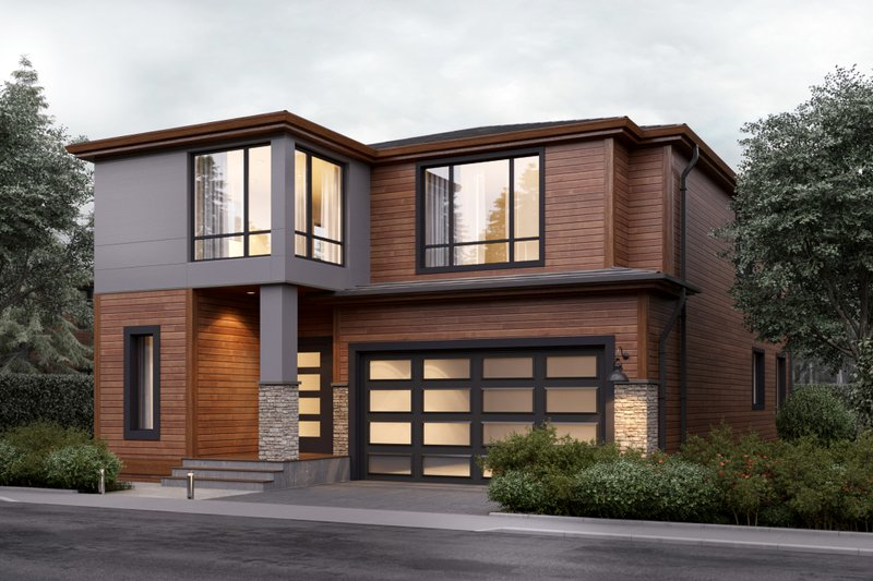 Contemporary Style House Plan - 4 Beds 2.5 Baths 2796 Sq/Ft Plan #1066-7 Exterior - Front Elevation