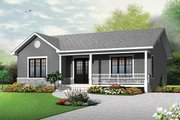 Ranch Style House Plan - 2 Beds 1 Baths 1103 Sq/Ft Plan #23-2662 Exterior - Front Elevation