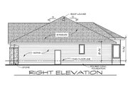 Craftsman Style House Plan - 2 Beds 2 Baths 1620 Sq/Ft Plan #20-2115 Exterior - Other Elevation