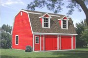 Country Style House Plan - 1 Beds 1 Baths 443 Sq/Ft Plan #116-126 Exterior - Front Elevation