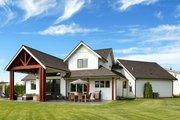 Farmhouse Style House Plan - 3 Beds 2.5 Baths 2878 Sq/Ft Plan #1070-10 Exterior - Rear Elevation