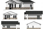 Ranch Style House Plan - 1 Beds 1 Baths 625 Sq/Ft Plan #1077-6 Exterior - Other Elevation