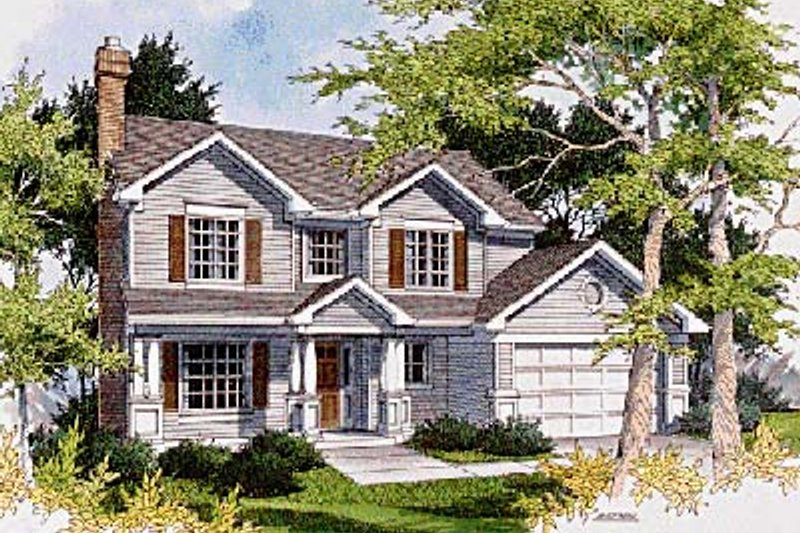 Traditional Exterior - Front Elevation Plan #48-164