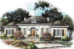 European Exterior - Front Elevation Plan #429-6