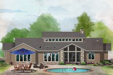 Architectural House Design - Contemporary Exterior - Rear Elevation Plan #929-1074