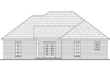 Dream House Plan - Ranch Exterior - Rear Elevation Plan #430-12