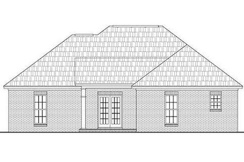 Ranch Exterior - Rear Elevation Plan #430-12 - Houseplans.com