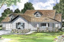 Home Plan - Farmhouse Exterior - Front Elevation Plan #124-415