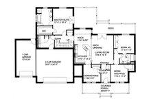 Southern Floor Plan - Main Floor Plan Plan #117-147