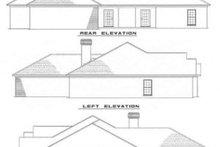 House Plan Design - European Exterior - Rear Elevation Plan #17-140