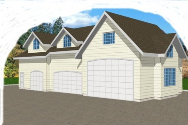 Traditional Exterior - Front Elevation Plan #117-256 - Houseplans.com