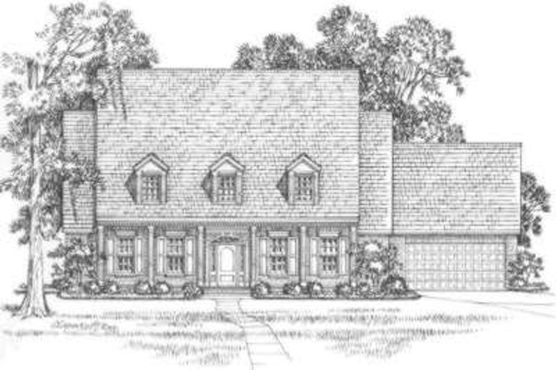 Southern Exterior - Front Elevation Plan #325-257