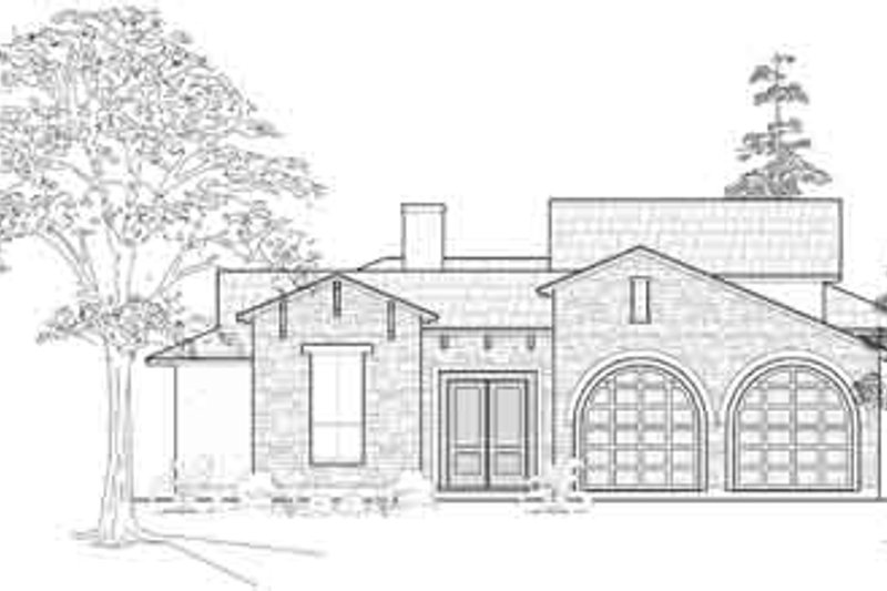 Modern Exterior - Front Elevation Plan #61-318