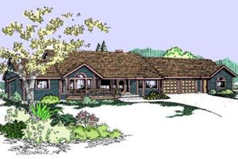 Traditional Exterior - Front Elevation Plan #60-366 - Houseplans.com