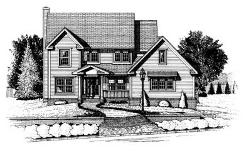 Architectural House Design - Colonial Exterior - Front Elevation Plan #20-224