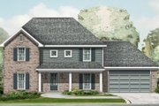 House Plan - 4 Beds 2.5 Baths 2253 Sq/Ft Plan #329-341 Exterior - Front Elevation