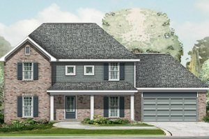 Exterior - Front Elevation Plan #329-341