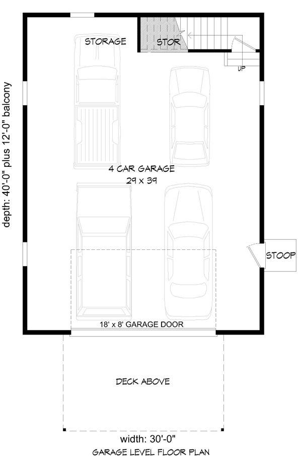 Country Floor Plan - Main Floor Plan #932-188