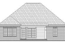 House Design - European Exterior - Rear Elevation Plan #21-129