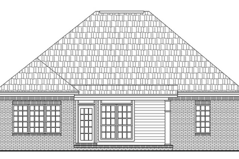 European Exterior - Rear Elevation Plan #21-129 - Houseplans.com