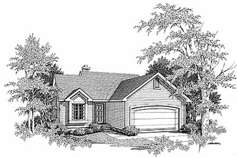 Traditional Exterior - Front Elevation Plan #70-111 - Houseplans.com