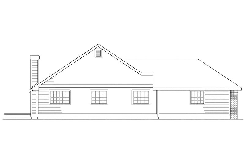 Traditional Exterior - Other Elevation Plan #124-119 - Houseplans.com