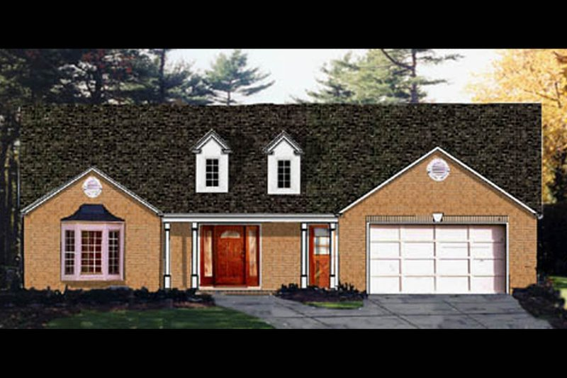 Dream House Plan - Country Exterior - Front Elevation Plan #3-229