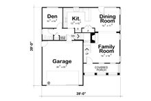 Country Floor Plan - Main Floor Plan Plan #20-2149