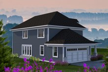 Country Exterior - Rear Elevation Plan #70-1222
