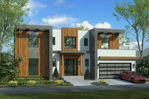 Dream House Plan - Contemporary Exterior - Front Elevation Plan #928-353