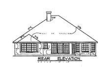 House Plan Design - European Exterior - Rear Elevation Plan #40-119