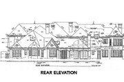 Tudor Style House Plan - 5 Beds 6.5 Baths 7632 Sq/Ft Plan #141-281 Exterior - Rear Elevation