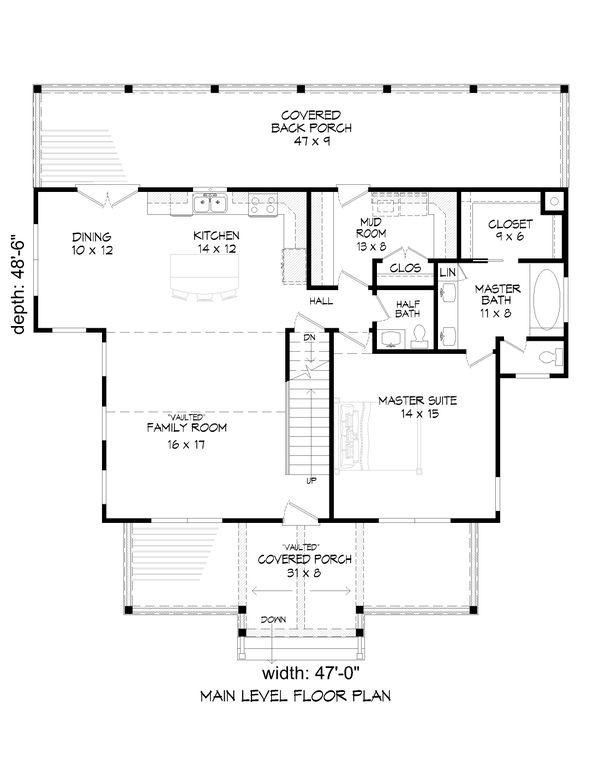 Traditional Floor Plan - Main Floor Plan #932-333