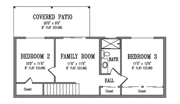 Adobe / Southwestern Floor Plan - Lower Floor Plan #1-173